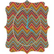 Amy Sia Tribal Chevron Clock