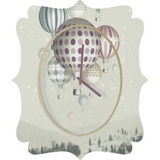 <strong>DENY Designs</strong> Belle 13 Winter Dreamflight Wall Clock