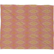 <strong>DENY Designs</strong> Cori Dantini Orange Ikat 4 Polyester Fleece Throw Blanket
