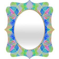 <strong>DENY Designs</strong> Amy Sia Chroma Blue Quatrefoil Mirror