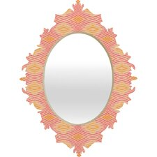 Cori Dantini Orange Ikat 4 Baroque Mirror