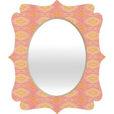 <strong>DENY Designs</strong> Cori Dantini Orange Ikat 4 Quatrefoil Mirror