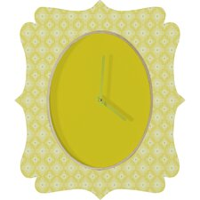 Caroline Okun Yellow Spirals Wall Clock
