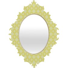<strong>DENY Designs</strong> Caroline Okun Yellow Spirals Baroque Mirror