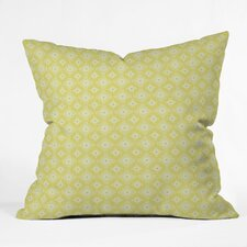 Caroline Okun Yellow Spirals Polyester Throw Pillow