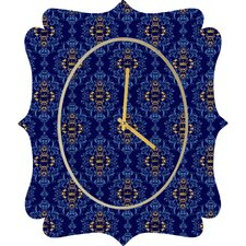 <strong>DENY Designs</strong> Belle 13 Royal Damask Pattern Wall Clock