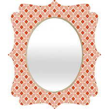Caroline Okun Persimmon Quatrefoil Mirror