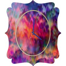 Amy Sia Sunset Storm Wall Clock