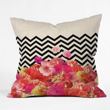 <strong>DENY Designs</strong> Bianca Green Chevron Flora 2 Polyester Throw Pillow