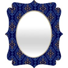 Belle13 Royal Damask Pattern Quatrefoil Mirror