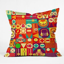 Chobopop Elecro Circus Polyester Throw Pillow