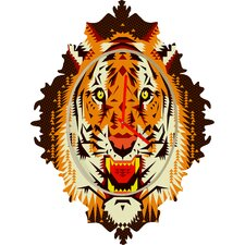 Chobopop Geometric Tiger Wall Clock