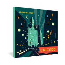 Anderson Design Group Chicago Mag Mile Gallery Wrapped Canvas