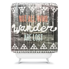 Wesley Bird Polyester Wander Shower Curtain