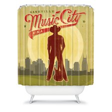 Anderson Design Group Woven Polyester Music City Shower Curtain