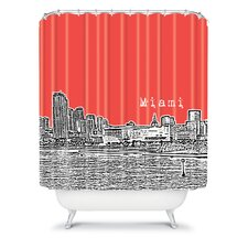 Bird Ave Woven Polyester Miami Shower Curtain