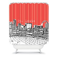 Bird Ave Woven Polyester St Louis Shower Curtain