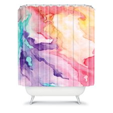 Rosie Brown Color My World Woven Polyesterr Shower Curtain