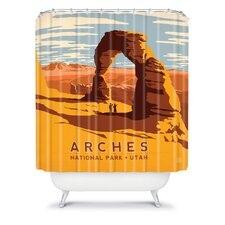 Anderson Design Group Woven Polyester Arches Shower Curtain
