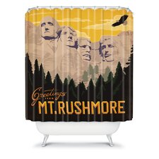 Anderson Design Group Woven Polyester Mount Rushmore Shower Curtain