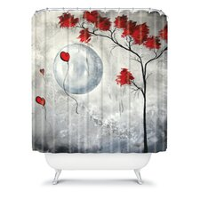Madart Inc. Polyester Far Side Of The Moon Shower Curtain
