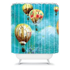 Land Of Lulu Woven Polyester Herd of Balloons 2 Shower Curtain