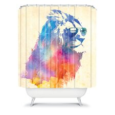 Robert Farkas Woven Polyester Sunny Leo Shower Curtain