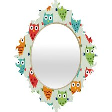 Andi Bird Owl Fun Baroque Mirror