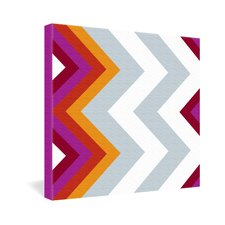 <strong>DENY Designs</strong> Karen Harris Modernity Solstice Warm Chevron Gallery Wrapped Canvas