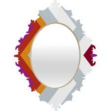 <strong>DENY Designs</strong> Karen Harris Modernity Solstice Warm Chevron Baroque Mirror