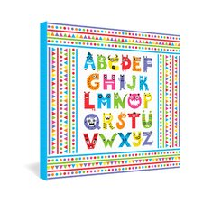 Alphabet Monsters by Andi Bird Canvas Art