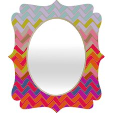 <strong>DENY Designs</strong> Sharon Turner Geo Chevron Quatrefoil Mirror
