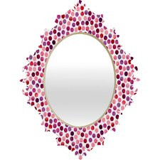 <strong>DENY Designs</strong> Garima Dhawan Watercolor Dots Berry Baroque Mirror