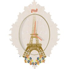 Jennifer Hill Paris Eiffel Tower Wall Clock