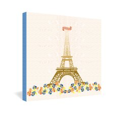 Jennifer Hill Paris Eiffel Tower Gallery Wrapped Canvas