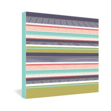 <strong>DENY Designs</strong> Wendy Kendall Multi Stripe Canvas Wall Art