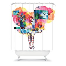 Randi Antonsen Polyester Flower 6 Shower Curtain