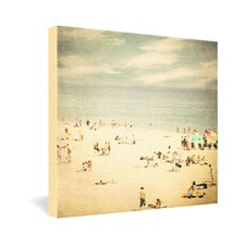 <strong>DENY Designs</strong> Shannon Clark Vintage Beach Canvas Wall Art