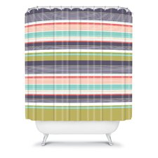 Wendy Kendall Polyester Multi Stripe Shower Curtain