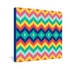 <strong>DENY Designs</strong> Juliana Curi Chevron 5 Canvas Wall Art