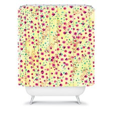 Joy Laforme Woven Polyester Wind Swept Floral Shower Curtain