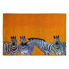Clara Nilles Candy Stripe Zebras Novelty Rug