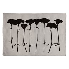 Garima Dhawan Black Carnations Novelty Rug
