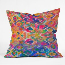 Amy Sia Watercolour Ikat 3 Throw Pillow