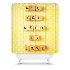 Happee Monkee All You Need Is Love Shower Curtain