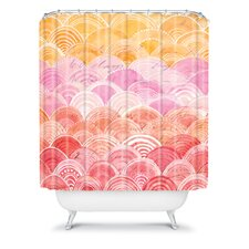 Cori Dantini Warm Spectrum Rainbow Shower Curtain
