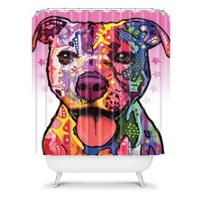 Dean Russo Cherish the Pitbull Shower Curtain