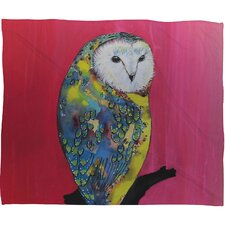 Clara Nilles Owl On Lipstick Polyester Fleece Throw Blanket