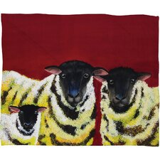 Clara Nilles Lemon Spongecake Sheep Polyester Fleece Throw Blanket