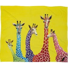 <strong>DENY Designs</strong> Clara Nilles Jellybean Giraffes Polyester Fleece Throw Blanket